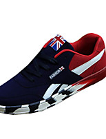 Men's Spring / Fall Suede Casual Flat Heel Others Black / Blue / Black and Red Sneaker