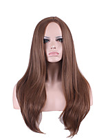 Perruque Women Peruca Cosplay Wig Ombre Wig Pelucas Pelo Natural Sinteticas Perucas Halloween Long Perruque BrownSynthetic