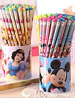72 Skin Head HB Pencil Cute Cartoon Environmental Non-toxic Writing Pens