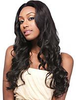 couleur noire cosplay perruques synthétiques perruques d'ondes bon marché pour les femmes noires perruques
