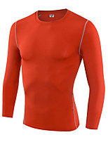 Running Sweatshirt / T-shirt Men's Long Sleeve Breathable / Quick Dry / Compression / Sweat-wicking Fitness / Running Sports Sports Wear