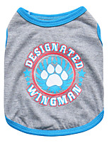 Katzen / Hunde T-shirt Rot / Blau Sommer Blumen / Pflanzen Modisch, Dog Clothes / Dog Clothing-Pething®