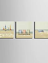 canvas Set Paisagem Estilo Europeu,3 Painéis Tela Quadrangular Impressão artística wall Decor