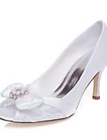 Wedding Shoes-Sandálias-Peep Toe-Branco-Feminino-Casamento / Social / Festas & Noite