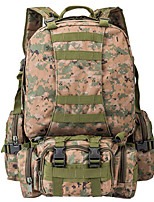 50 L Backpack Camping & Hiking Outdoor Multifunctional Black / Brown / Camouflage Nylon Other