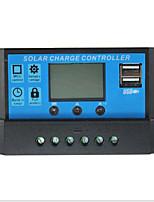 régulateur solaire 20a, écran lcd, 12v / 24v adaptative, dual usb, sortie 5v