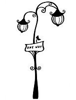 Fashion The Street Lamp Pattern PVC Bathroom or Bedroom or Glass Wall Sticker Home Decor
