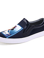 Men's Clogs & Mules Spring / Fall Round Toe Synthetic Outdoor / Office & Career / Casual Flat Heel Metallic toeBlack / Blue / White /