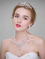 Damen Legierung Kopfschmuck-Hochzeit Tiara 3 Stück