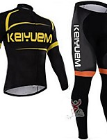 KEIYUEM®Others Winter Thermal Fleece Long Sleeve Cycling Jersey+ Tights Ropa Ciclismo Cycling Clothing Suits #W2