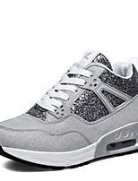 Women's Flats Spring / Summer / Fall / Winter Comfort PU Casual Flat Heel Lace-up Black / Gray Sneaker