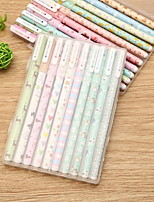 Small And Pure And Fresh Flower Color Pen Black 10 Sets
