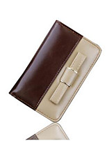 Women Wallet Coin Purses Holders Genuine Leather Bowknot Long Clutch Wallets
