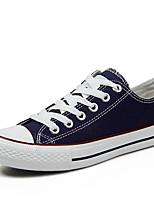 Scarpe Donna-Sneakers alla moda-Tempo libero / Casual / Sportivo-Comoda-Piatto-Di corda / Nappa-Nero / Blu / Rosso / Nero e bianco