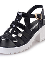 Women's Clogs & Mules Summer Toe Ring PU Casual Chunky Heel Others Black / White / Silver / Taupe