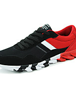 Men's Spring / Fall Comfort / Round Toe Tulle Outdoor / Athletic Flat Heel Black / Blue / Red Sneaker