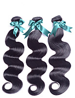 1 pezzo Ondulato naturale Tessiture capelli umani Brasiliano Tessiture capelli umani Ondulato naturale