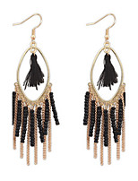 Bohemian Fashion Pearl Tassel Earrings