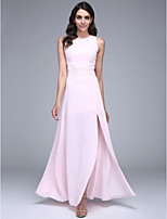 TS Couture® Formal Evening Dress Sheath / Column Jewel Floor-length Chiffon with Beading / Sequins