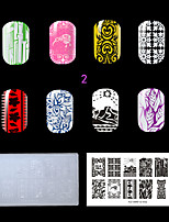 1PC Plastic Clear White Art Nail Stamping Plate (KD-SM612-002)