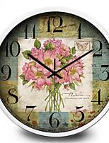 Creative Personality Retro Clock Mute Room Metal Wall Clock