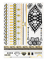 1pc Temporary Tattoo Gold Silver Diamond Necklace Pendant Flash Metallic Waterproof Tattoo Sticker YH-047