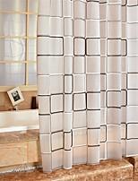 Modern Plaid Pattern Shower Curtains W71