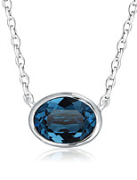 Necklace Pendant Necklaces Jewelry Platinum Plated Wedding / Party / Daily / Casual Silver Oval 1pc Gift