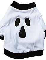 Cat / Dog Shirt / T-Shirt White Summer / Spring/Fall Halloween Halloween, Dog Clothes / Dog Clothing