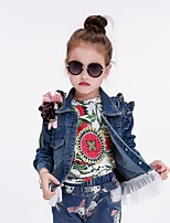 Girl's Casual/Daily Solid Jeans / Jacket & Coat / Trench Coat,Polyester Spring / Fall Blue