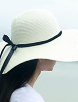 Women Casual Travelling Straw Large Brimmed Foldable Sun Hats