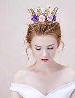 여성 합금 투구-웨딩 왕관 1개 멀티컬러
