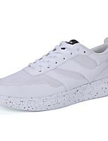 Hombre-Tacón Plano-Confort-Zapatillas de deporte-Casual-Tul-Negro / Azul / Blanco