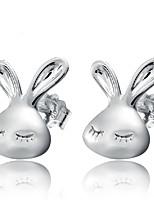Silver Rabbit Fashion Hypoallergenic Earrings