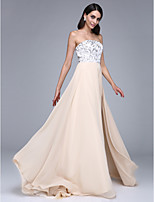 TS Couture® Formal Evening Dress A-line Strapless Court Train Chiffon with Sequins