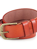 Men Faux Leather Waist Belt,Vintage / Party / Work / Casual Alloy / Leather P3D1P1K8
