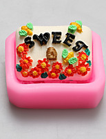 moldes de doces flores de chocolate de silicone, moldes de bolo, moldes de sabão, ferramentas de decoração bakeware