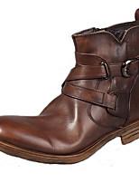 Темно-русый-Для мужчин-Для прогулок Для офиса Повседневный Для вечеринки / ужина-Наппа LeatherУдобная обувь-Ботинки