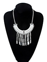 Stylish Atmosphere Tassel Necklace Crescent