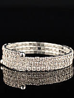 Women's Persona Beads Collection Bracelet Silver Rhinestone