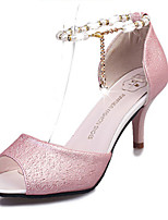 Women's Shoes PU Summer Heels Heels Casual Stiletto Heel Others Pink / White / Silver / Gold