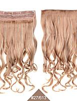 grampo no cabelo 60 centímetros 24inch 5 clips # 27/613 cor mista 5clips cabelo sintético cabelo encaracolado sintético tece