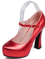 Women's Shoes Chunky Heel Heels / Platform / Round Toe Heels Office & Career / Party & Evening / Dress Black / Red /