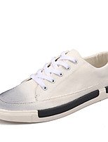 Men's Shoes Canvas Casual Walking Flat Heel Lace-up Black / White / Gray EU39-43