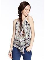 Heart Soul® Women's Strap Sleeveless T Shirt Blue / Orange-W2620382