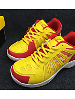Men's Shoes Leather / Tulle Athletic / Casual Sneakers Athletic / Casual Sneaker Low Heel Lace-up Yellow / White