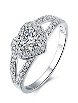 Ring,925 Sterling Silver AAA Cubic Zirconia Fashion Party Jewelry Silver Plated Women / Men Band Rings 1pc,6 / 7 / 8 / 9 Silver