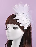 Mujer / Niña de flor Pluma Celada-Boda / Ocasión especial Tocados 1 Pieza 28*17cm