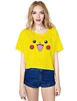 geinspireerd door Pocket Monster PIKA PIKA Anime Cosplay Kostuums Cosplay Tops / Bottoms Print  Geel Korte mouw Top