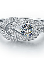 0.45CT Love Forever Unique Design Engagement Ring for Women Sterling Silver SONA Diamond High Quality Semi Micro Paved